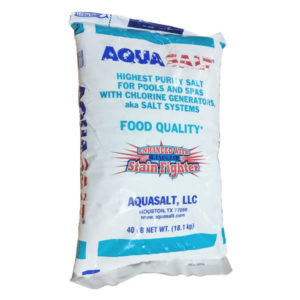 AquaSalt Pool Salt for Spa and Pool Chlorine Generators - 40 LB